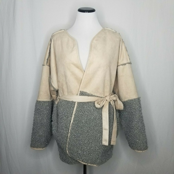 Lucky Brand Jackets & Blazers - Lucky Brand Mixed Faux Shearling Suede Jacket